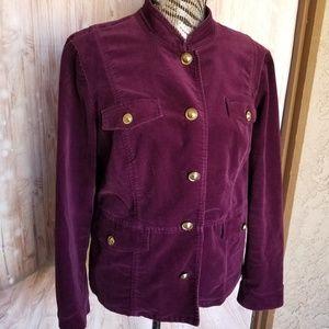 Chicos purple velvet jacket size 2